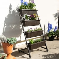 4 Tier Vertical Raised Garden Bed Plant Stand Elevated Vegetables