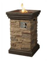 Peaktop Firepit Outdoor Gas Fire Pit Slate Rock With Lave Rock & Cover HF29402A - 1