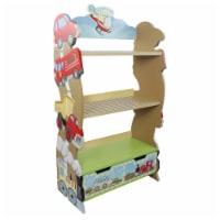Fantasy Fields Childrens Transportation Kids Wooden Bookcase Book Shelf W-10040A