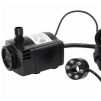 Peaktop Water Pump For Ponds & Fountains 85 GPH & 2 Ft Cable Black LV60T - 1