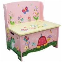 Fantasy Fields Magic Garden Childrens Kids Wooden Toy Storage Bench TD-11644A - 1