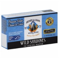 Henry & Lisa's Natural Wild Sardines In Spring Water