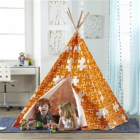 Merry Products Childrens Puzzle Teepee Play Tent, Orange
