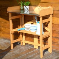 Merry Products PTB0080010010 Folding Utility Table & Potting Bench - 1