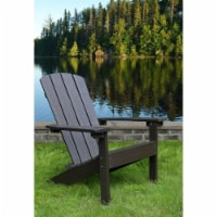 Merry Products ADC0561120810 32.28 in. Lakeside Faux Wood Adirondack Chair, Espresso