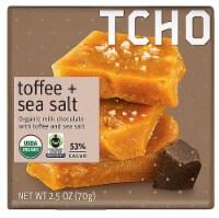 TCHO Toffee + Sea Salt Organic Milk Chocolate Bar - 2.5 oz