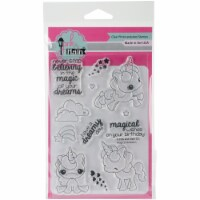 Pink & Main Clear Stamps 4 X6 -Magical Unicorns - 1