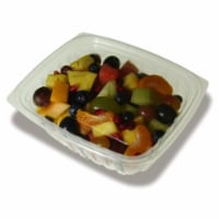 Jaya PLA-KD32 32 oz Compostable Clear Hinged Deli Container with Lid - Pack of 200 - 200