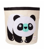 3 Sprouts Canvas Storage Bin - Laundry and Toy Basket for Baby and Kids, Panda