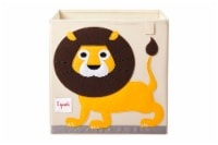 3 Sprouts Cube Storage Box - Organizer Container for Kids & Toddlers, Lion