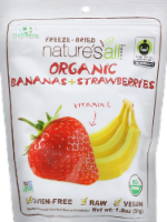 Nature's All Dried Fruit Bananas & Strawberrys - 1.8 OZ