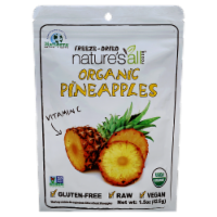 Nature's All Foods Organic Freeze-Dried Pineapple - 1.5 oz