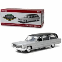 Greenlight 18005 1966 Cadillac S&S Limousine Silver with Black Top Precision Collection Limit - 396