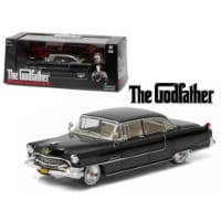 Greenlight 86492 1 by 43 Diecast The Godfather 1955 Cadillac Fleetwood Series 60 Special Blac - 1