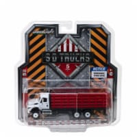 Greenlight 45050B 1-64 Diecast Scale 2018 International WorkStar Platform Stake Truck S.D. Tr - 1