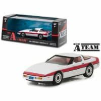 Greenlight 86517 1 isto 43 1984 Chevrolet Corvette C4 The A Team 1983-1987 TV Series Diecast - 1