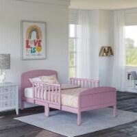 Rack Furniture Harrisburg Solid Wood Toddler Kids Bed with Side Rails, Pink - 1 Unit