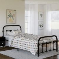 Rack Furniture Melissa Steel Twin Size Home Furniture Kids Bed Frame, Black - 1 Unit