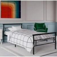 Rack Furniture Seattle Steel Twin Size Bedroom Furniture Kid Bed Frame, Black - 1 Unit