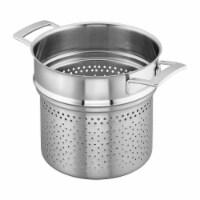 Demeyere Industry 5-Ply 8-qt Stainless Steel Pasta Insert (Fits 8-qt Stock Pot) - 8-qt