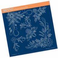 Groovi Template - Tina's Floral Swirls & Corners 2 - 1