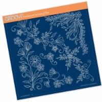 Groovi Template - Tina's Floral Swirls & Corners 1 - 1