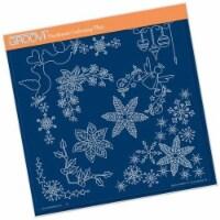 Groovi Template - Tina's Christmas Corners 2 A4 Square Groovi Plate - 1