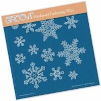 Groovi Small Snowflakes A5 Sq Plate - 1
