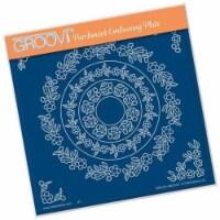 Groovi Plate A5 - Tina's Floral Doodle Wreath - 1