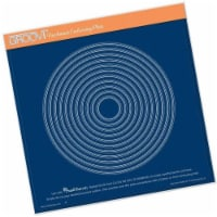 Nested Circles Picot Cut A4 Sq Plate - 1