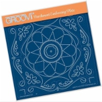 Groovi Plate - Tina's Emroidery Flowers A5 Sq - 1