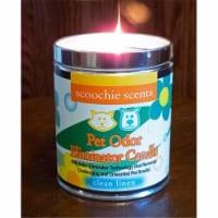 Scoochie Pet 262 Clean Linen Pet Odor Removing Candle - 13 oz - 1
