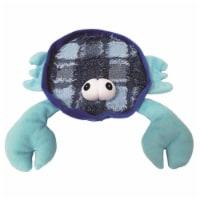 Schoochie Pet 547 Blue Claw Crab Plush Dog Toys, 10.5 in.