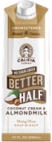 Califia Farms No Sugar Added Better Half Coconut Cream & Almond Milk Dairy Free Half-n-Half