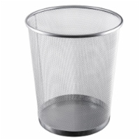 YBM Home 2485vc 4.75 gal Steel Mesh Round Open Top Waste Basket Wire Bin Trash Can
