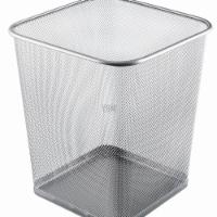 YBM Home 2488vc 4 gal Steel Mesh Square Open Top Waste Basket Wire Bin Trash Can