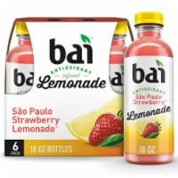 Bai Strawberry Lemonade Antioxidant Infused Beverage - 6 bottles / 18 fl oz
