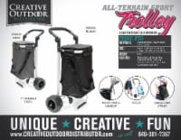 Creative Outdoor EZ Push 40L Folding Sport Trolley - Black