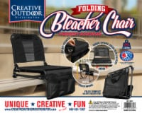 Creative Outdoor 2 in 1 Bleacher Folding Chair - Black