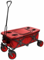 Creative Outdoor All-Terrain Folding Wagon w/Table TopCooler - Red - 1 ct