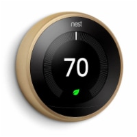 Google Nest T3032US Learning Thermostat 3rd Gen - Brass - 1