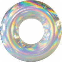 PoolCandy Holographic Ride-On Tube Pool Float PC2042HG - 1