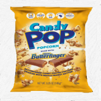 Candy Pop Butterfinger Candy Coated Popcorn