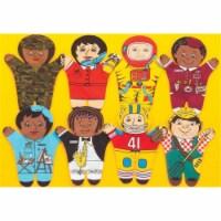Dexter Educational Toys DEX840M Career 8 Piece Puppet Set - Multicultural - 8