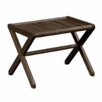 New Ridge Home Goods Abingdon Farmhouse Solid Wood Large Stool/Bench in Espresso - 1