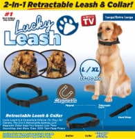 Lucky Leash 2-In-1 Retractable Leash & Collar - L / XL