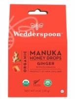 Wedderspoon Organic Ginger Manuka Honey Drops - 4 oz