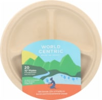 World Centric 3 Compartment Plates