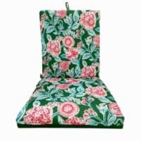 J & J Global 270518 Green Flor Chair Cushion - Pack of 8 - 1