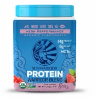 Sunwarrior  Warrior Blend Plant-Based Organic Protein   Berry - 13.2 oz
